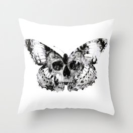 Skull and Butterfly Throw Pillow