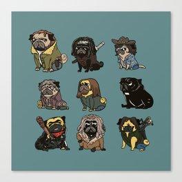 The Walking Pug Canvas Print