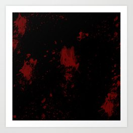 Blood Art Print