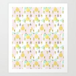 Mil gatos Art Print