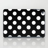 polka iPad Cases featuring Polka Dots (White/Black) by 10813 Apparel