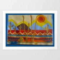 desert Art Prints featuring Desert by Abundance