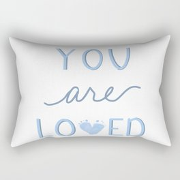 You are loved blue baby footprint Rectangular Pillow