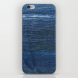 Metallic blue abstract watercolor background iPhone Skin