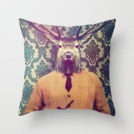 Off duty Throw Pillow