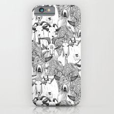 just goats black white iPhone 6 Slim Case