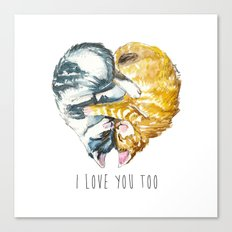 Cats Love . Valentine's Day Canvas Print