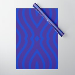 Bluesy Twist Wrapping Paper