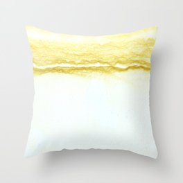 Yellow Surf Throw Pillow