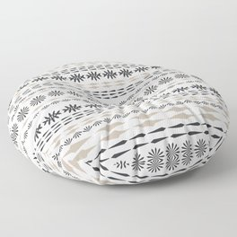 Nordic winter pattern Floor Pillow