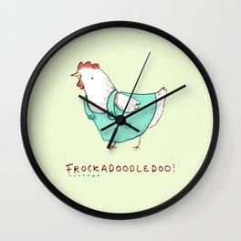 Frockadoodledoo! Wall Clock