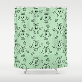 Happy Apples  Shower Curtain