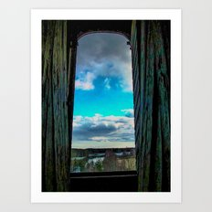 The day through the open window Art Print