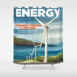 US Department of Energy LPO Poster - Wind Energy (2016) Shower Curtain