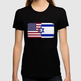 Israel USA flag T-shirt
