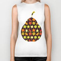 fruit Biker Tanks featuring FRUIT by badOdds