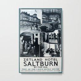 Saltburn-by-the-Sea Vintage Travel Poster Metal Print