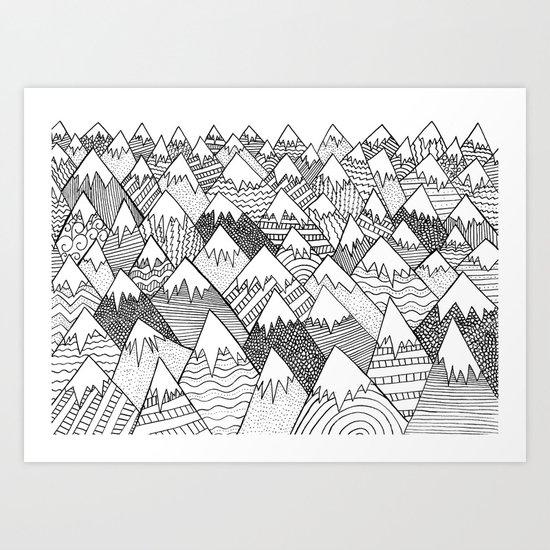 Pattern Hills Art Print
