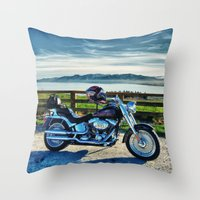middle earth Throw Pillows featuring Harley Davidson, Middle Earth Edition. by Bodhikai Imagery | Pacific Northwest Tra