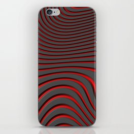 Organic Abstract 02 RED iPhone Skin