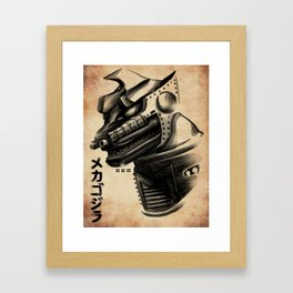 Waterbrushed Robot Protector Framed Art Print