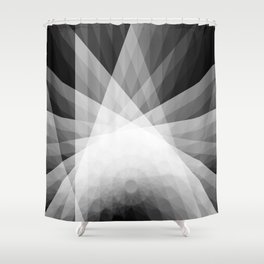 A Receptive Mind is Connected BLK/WHT Shower Curtain