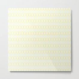 Yellow & Green Tangled Lines Pattern Metal Print