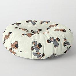 Olympic Lifting Dachshund Floor Pillow