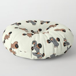 Olympic Lifting Dachshund Floor Pillow