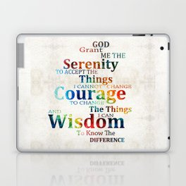 Colorful Serenity Prayer by Sharon Cummings Laptop & iPad Skin