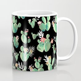 CACTUS PRINT - BLACK Coffee Mug