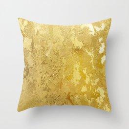 golden vintage Throw Pillow