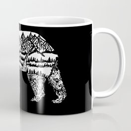 Bear Necessities in Black Coffee Mug