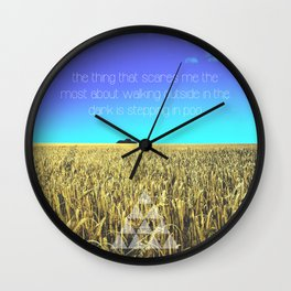 Walk in the dark Wall Clock