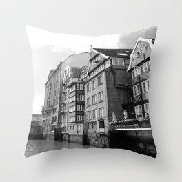 Nikolaifleet Hamburg Throw Pillow
