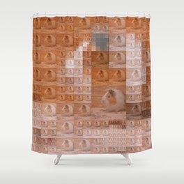 Guinea Pig - Pixel Fun Shower Curtain