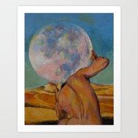 atlas Art Prints featuring Atlas by Michael Creese