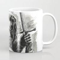 aragorn Mugs featuring Aragorn by Juan Pablo Cortes