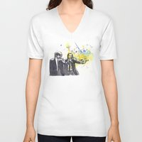 pulp fiction V-neck T-shirts featuring Pulp Fiction by idillard