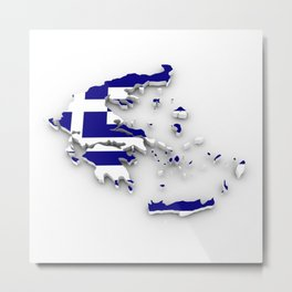 GREECE LOVE Metal Print