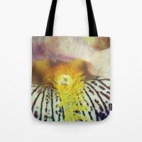 iris Tote Bags featuring Iris by KunstFabrik_StaticMovement Manu Jobst