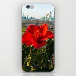 Red Beach Flower iPhone Skin
