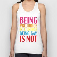 pride and prejudice Tank Tops featuring Being Prejudice... by MaNia Creations