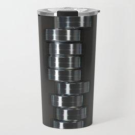 Pattern of brushed metal cylinders Travel Mug
