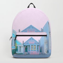 San Francisco Painted Lady Victorian House Backpack