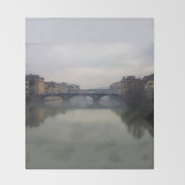 Bridge Gap Over Arno Throw Blanket