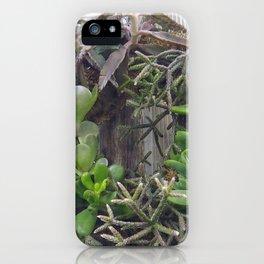 A Wreath of Succulent Plants iPhone Case