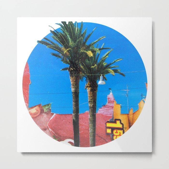 Meat Dream Party Land Series · Meat Desert City Dream Town · Circle Metal Print