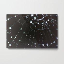 Spider web bokeh Metal Print