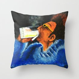 """""""HERE'S TO FEELIN' GOOD ALL THE TIME"""" Throw Pillow"""